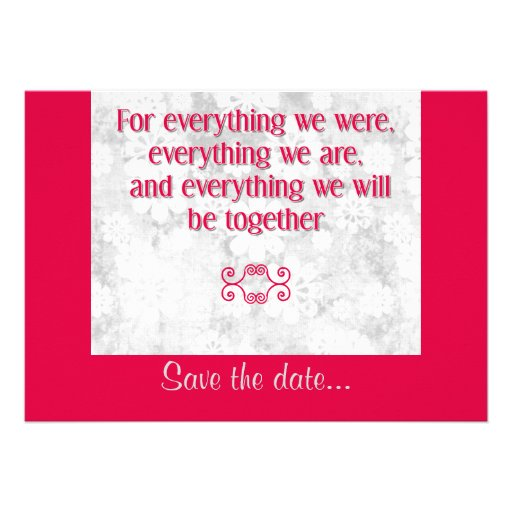 For Everything - Save the Date Card - Red Invitations