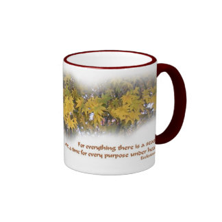 For Everything There Is a Season Ringer Mug