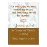 For Everything - Wedding Invitation - Brown