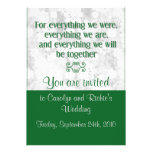 For Everything - Wedding Invitation - Green
