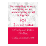 For Everything - Wedding Invitation - Red