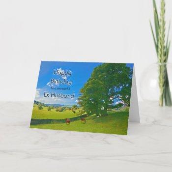 For Ex Husband A Pastoral Landscape Birthday Card