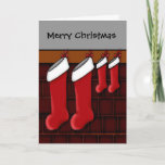 For expecting parents of twins Christmas stockings Holiday Card