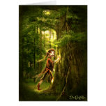 ..for faery folks live in old oaks greeting card