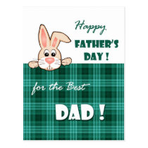 For Father on Father's Day Customizable Postcards