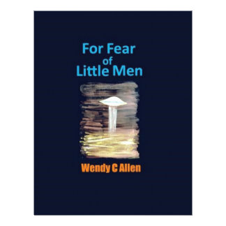 For Fear of Little Men - VISION D-8 UFO Book Cover Letterhead Template