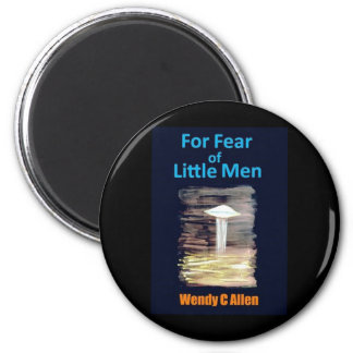For Fear of Little Men - VISION D-8 UFO Book Cover Magnet