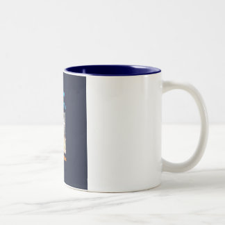 For Fear of Little Men - VISION D-8 UFO Book Cover Two-Tone Coffee Mug