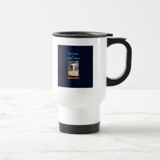 For Fear of Little Men - VISION D-8 UFO Book Cover 15 Oz Stainless Steel Travel Mug