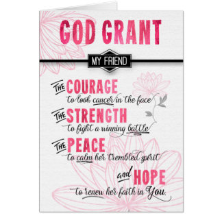 for Female Friend Fighting Cancer - Pink Prayer Card