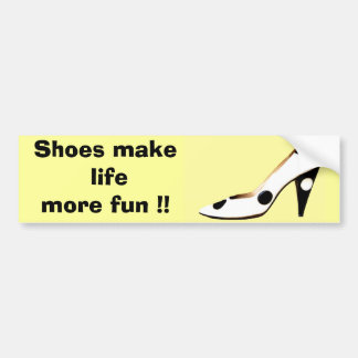 For Females Who Love  Shoes Car Bumper Sticker
