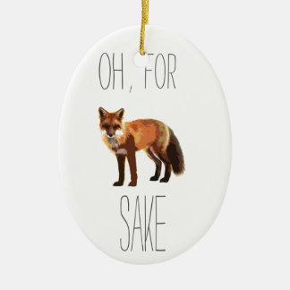 For Fox Sake Arty Cutout Ceramic Ornament