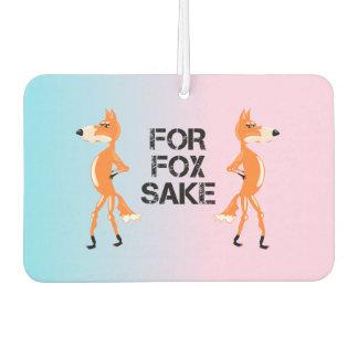 For Fox Sake Couple Of Arguing Foxes Air Freshener