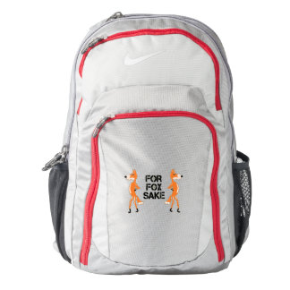 For Fox Sake Couple Of Arguing Foxes Backpack