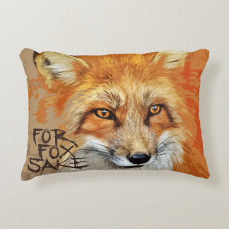 For Fox Sake Design Decorative Pillow