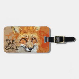 For Fox Sake Design Luggage Tag