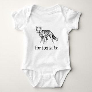 For Fox Sake - Vintage Hand-Drawn Fox Baby Bodysuit