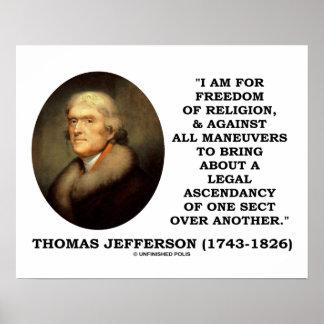 For Freedom Religion Against Maneuvers Jefferson Print