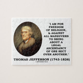 For Freedom Religion Against Maneuvers Jefferson Puzzle