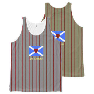 For Freedom William Wallace Tartan Heart All-Over-Print Tank Top