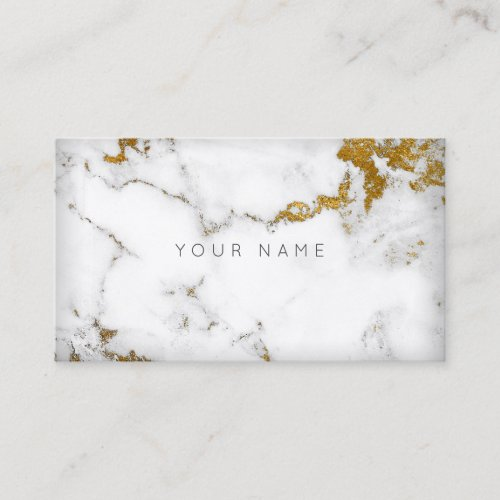 For Gaayu Golden White Gray Marble Vip Business Card
