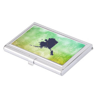 For Gifts: Alaska Flag Map Business Card Holders