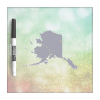 For Gifts: Alaska Flag Map Dry Erase Board