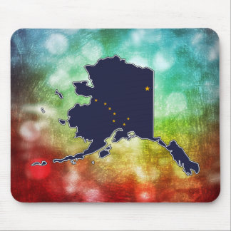 For Gifts: Alaska Flag Map Mouse Pad