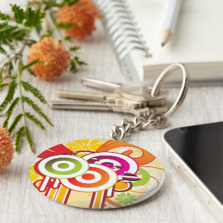 For Gifts: Hawaii Flag Map Basic Round Button Keychain