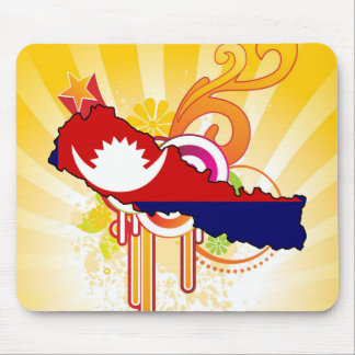 For Gifts: Nepal Flag Map Mouse Pad