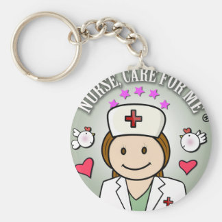For Gifts Nurses Congregation Basic Round Button Keychain