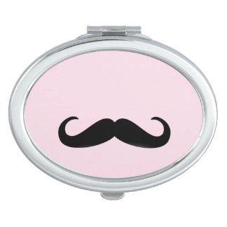 For Girls | Moustache | espejo de bolsa Oval Espejos De Maquillaje