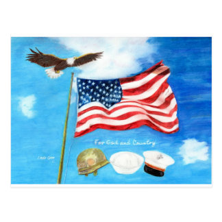 For God and Country Postcard