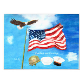 For God and Country print Photo Print