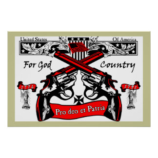 For God & Country! (Latin) Poster