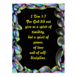For God did not give us a spirit of timidity Postcard