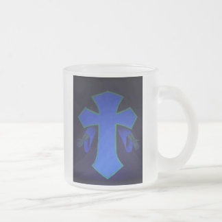 For God did not send His Son into the... Frosted Glass Coffee Mug