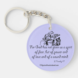 For God has not given us a spirit Bible Quote Keychain