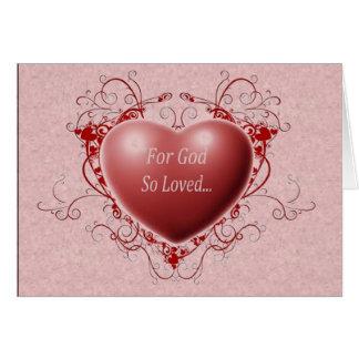 For God So Loved Card