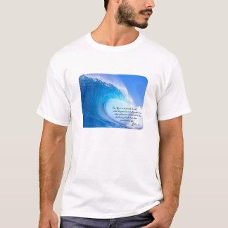For God So Loved John 3:16 Ocean Waves Design T-Shirt