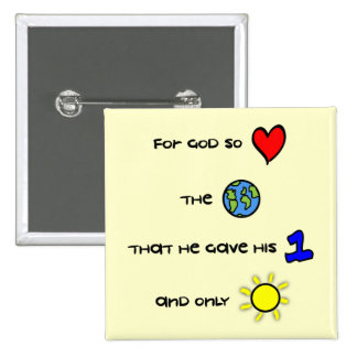 For God so Loved the World button