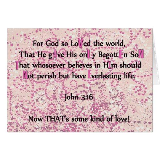 For God So Loved The World - Card