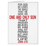 For God So Loved The World card