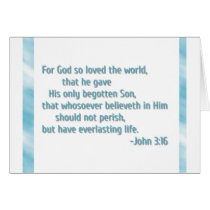 For God So Loved the World Card
