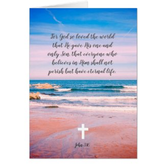 For God so loved the world, Christian card