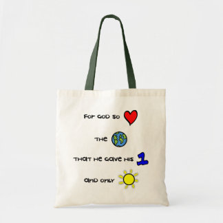 For God so Loved the World cloth tote bag