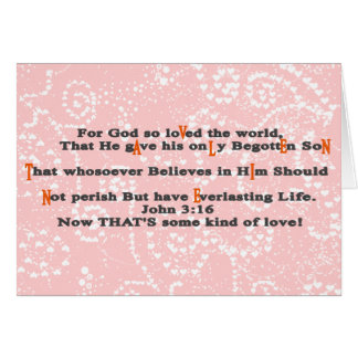 For God so loVed the world, - Cust... - Customized Greeting Card