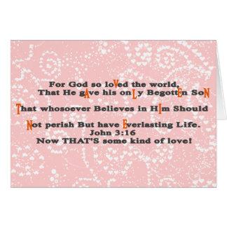 For God so loVed the world, - Cust... - Customized Card