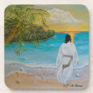 """""""For God So Loved The World"""" Drink Coasters"""