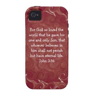 For God so loved the world ...   John 3:16 Case-Mate iPhone 4 Cases